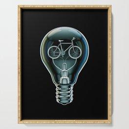 Dark Bicycle Bulb Serving Tray