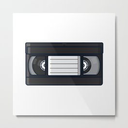 Retro - Tape Metal Print