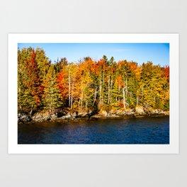 New England Fall. USA. Art Print