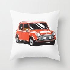 Mini Cooper Car - Red Throw Pillow
