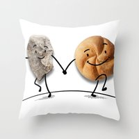 rock and roll Throw Pillows featuring Rock & Roll by Daniel Spreitzer