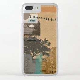 The future will not be monospaced Clear iPhone Case