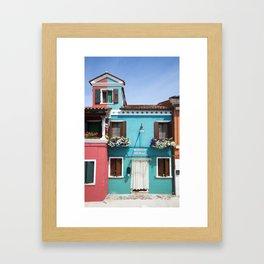 Burano House Framed Art Print