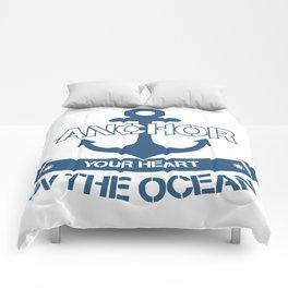 Anchor your heart in the ocean Comforters