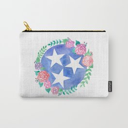 Tennessee Tri-star with flowers Carry-All Pouch