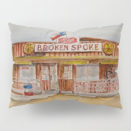 The Broken Spoke - Austin's Legendary Honky-Tonk Watercolor Painting Pillow Sham