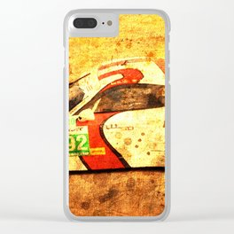2014 911 RSR classic race car golden background Clear iPhone Case