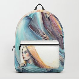"""Imperial Waves"" Watercolour Surrealism Pressure Backpack"