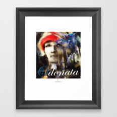 Lady In The Red Hat /Haiti Framed Art Print