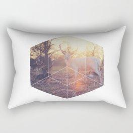 Magical Deer - Geometric Photography Rectangular Pillow