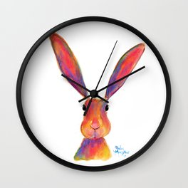 HaPPY HaRe / RaBBiT 'I'M ALL EaRS' by SHiRLeY MacARTHuR Wall Clock