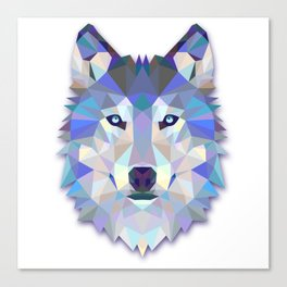 Colorful Wolf Canvas Print