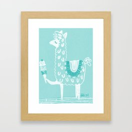 Alpaca Loves... Framed Art Print