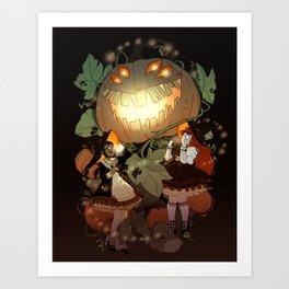 Pumpkin Fiend Art Print