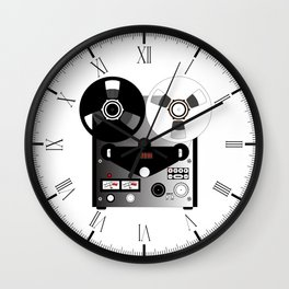 Black and White Recorder Wall Clock