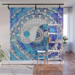Blue And White Art - Yin And Yang Symbols - Sharon Cummings Wall Mural