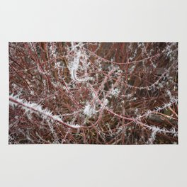 Red Frost Spiked Branches Rug
