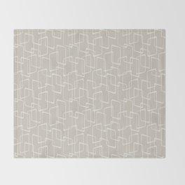 Beige / Light Warm Gray Retro Geometric Pattern Throw Blanket