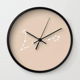 Pisces Zodiac Constellation - Warm Neutral Wall Clock