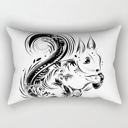 Squirrel with acorn in paws Rectangular Pillow