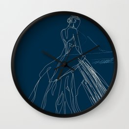 the piano player Wall Clock