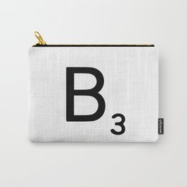 Letter B - Custom Scrabble Letter Wall Art - Scrabble B Carry-All Pouch