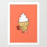 ilovedoodle Art Prints featuring Everyone Poops by ilovedoodle by I Love Doodle