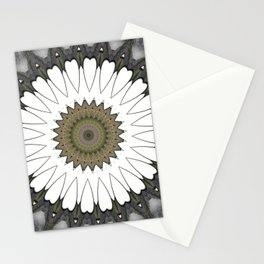Mandala of everyday love with hearts and Cupid arrows Stationery Cards