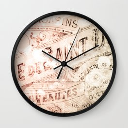 That Time in Paris Wall Clock