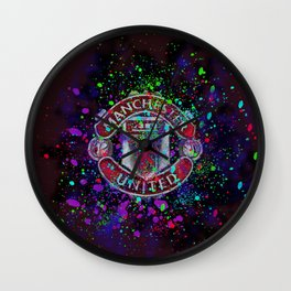 Watercolor Manchester United Wall Clock