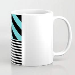 Blue B&W Coffee Mug