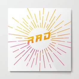 RAD (watercolor) Metal Print