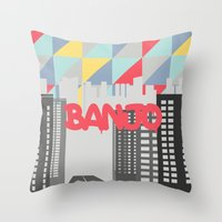 banjo Throw Pillows featuring Banjo by Nezz
