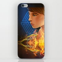 exo iPhone & iPod Skins featuring EXO D.O flame by Rei Lydia