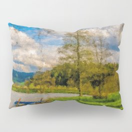 Boat on Water Pillow Sham