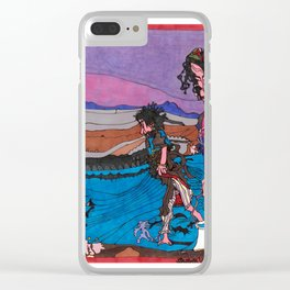 Beach Combers Clear iPhone Case