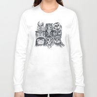 band Long Sleeve T-shirts featuring Nine Owls by Rachel Caldwell