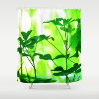 clover Shower Curtains featuring Clover by Bella Mahri-PhotoArt By Tina