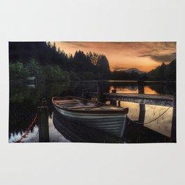 Golden Sunset over Loch Ard Rug