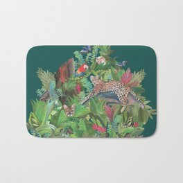 Into the Wild Emerald Forest Bath Mat