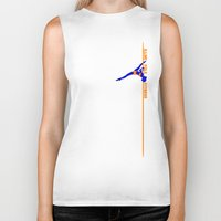 fitness Biker Tanks featuring Illini Pole Fitness Logo by IlliniPoleFitness