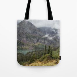 Grinnell Lake from the Trail No. 1 - Glacier NP Tote Bag