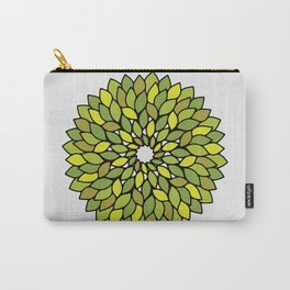 Green Leaf Mandala Carry-All Pouch