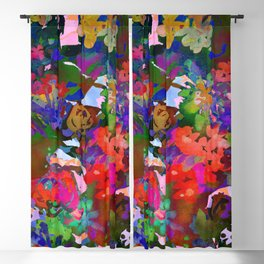 Wildflower Tapestry Blackout Curtain