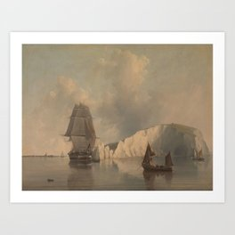 Off the Needles, Isle of Wight by Edward William Cooke, 1845. Art Print