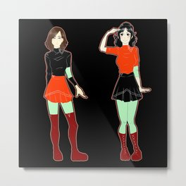 Girls Metal Print
