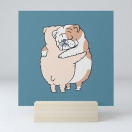 English Bulldog Hugs Mini Art Print