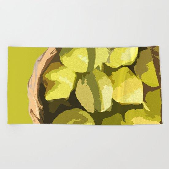 Autumn quinces Beach Towel