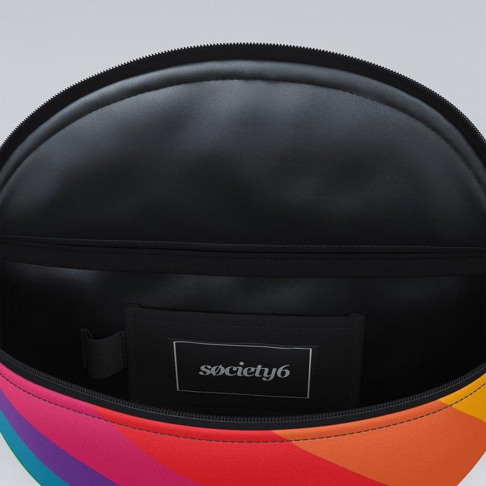 Retro Bright Rainbow - Right Side Fanny Pack