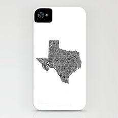Typographic Texas Slim Case iPhone (4, 4s)